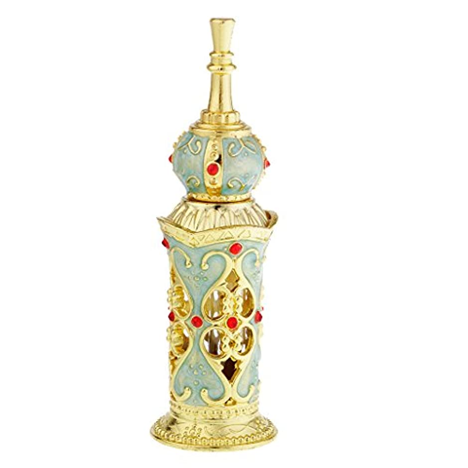 誰の幻想的読み書きのできないヴィンテージ 詰め替え可能 香水瓶 ガラス空瓶 ローションホルダー 結婚式 オーナメント 10ミリリットル 全2色 - #2