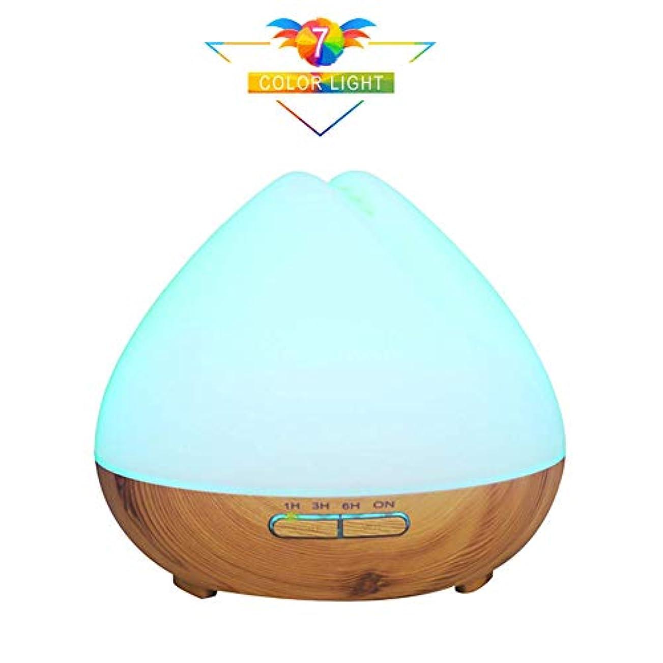 時制ベーカリーパパ400ミリリットルアロマエッセンシャルオイルディフューザー、クールミストアロマディフューザー7色を設定する4タイマーLEDライト