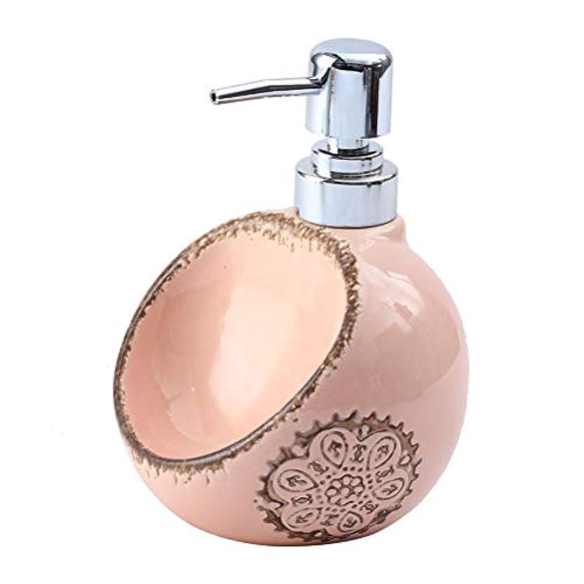 不純部分漏斗250ML / 420ML / 580MLクリエイティブセラミックソープディスペンサーデュアルユース洗剤ハンドスポンジシート浴ボトルサブ瓶と瓶消毒 (Size : A)
