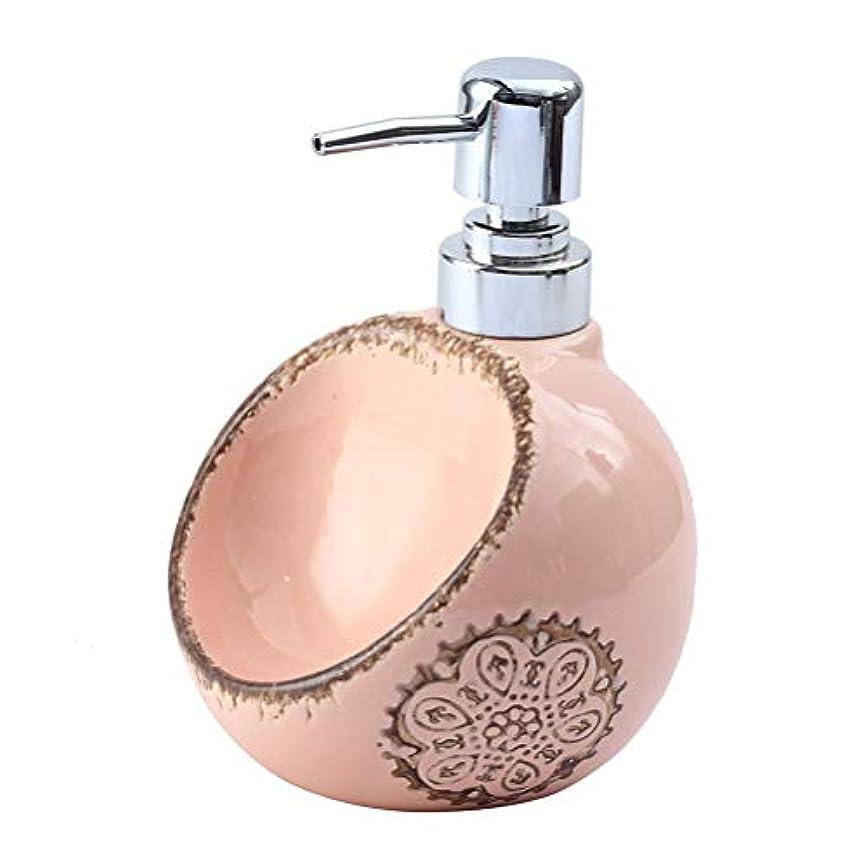 縞模様のコードレス病的250ML / 420ML / 580MLクリエイティブセラミックソープディスペンサーデュアルユース洗剤ハンドスポンジシート浴ボトルサブ瓶と瓶消毒 (Size : A)