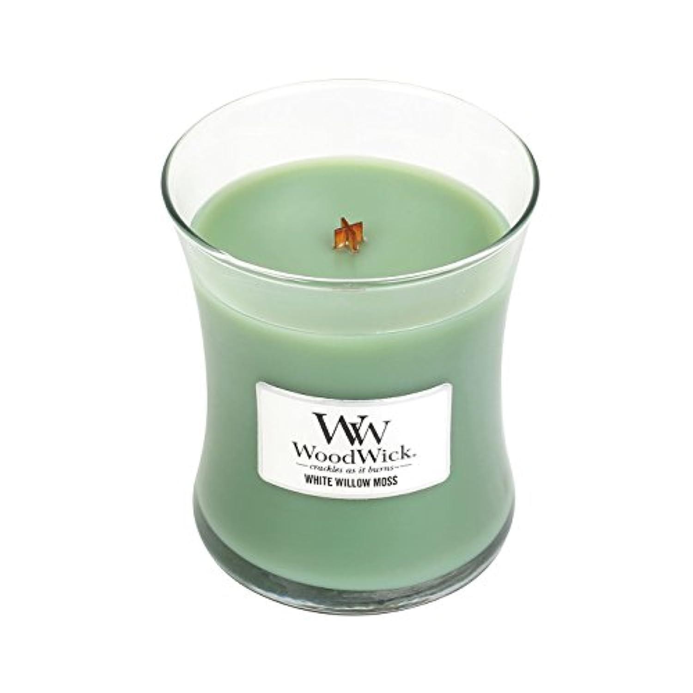WoodwickホワイトWillowモス、Highly Scented Candle、クラシック砂時計Jar、Medium 4インチ、9.7 Oz