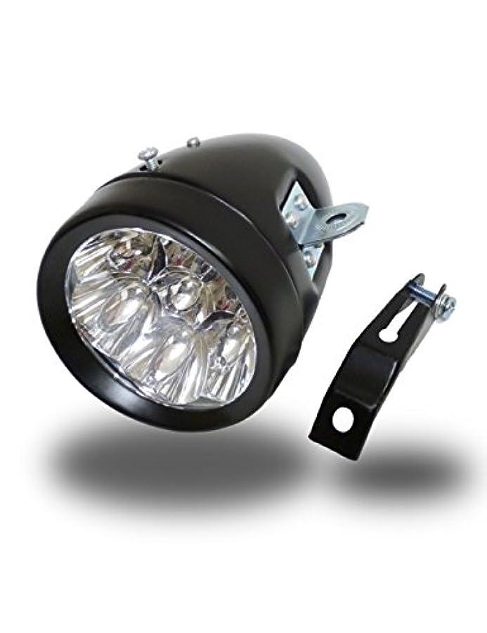 すばらしいです剥離すずめヘッドライト 自転車 7LED 砲弾型 レトロデザイン 電池式