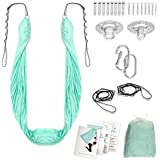 Aussie Home Improvements - Aerial Yoga Hammock Swing Kit with Mounting Kit – Silk Hammock for Home & Indoors – Includes Instructions & All Accessories – Adjustable Size