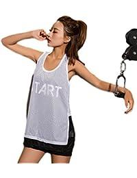 (プチプライム) Petit Prime トレーニング タンクトップ メッシュ 英字 ロゴ ブラック ホワイト ダンス ズンバ ランニング ジム ヨガ フィットネスウェア 通気性 速乾
