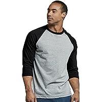 TOP PRO Men's 3/4 Sleeve Casual Raglan Jersey Baseball Tee Shirt