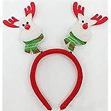 HuaQingPiJu-JP クリスマスヘッドバックルヘッドバンドパーティーデコレーションクリスマス用品クリスマスデコレーション(レッドホワイトディア)