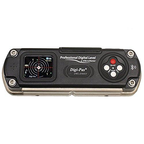 Digi-Pas 2軸 高精度デジタル平形水準器 角度計 傾斜計 DWL8500XY 1秒 0.005mm/M Bluetooth