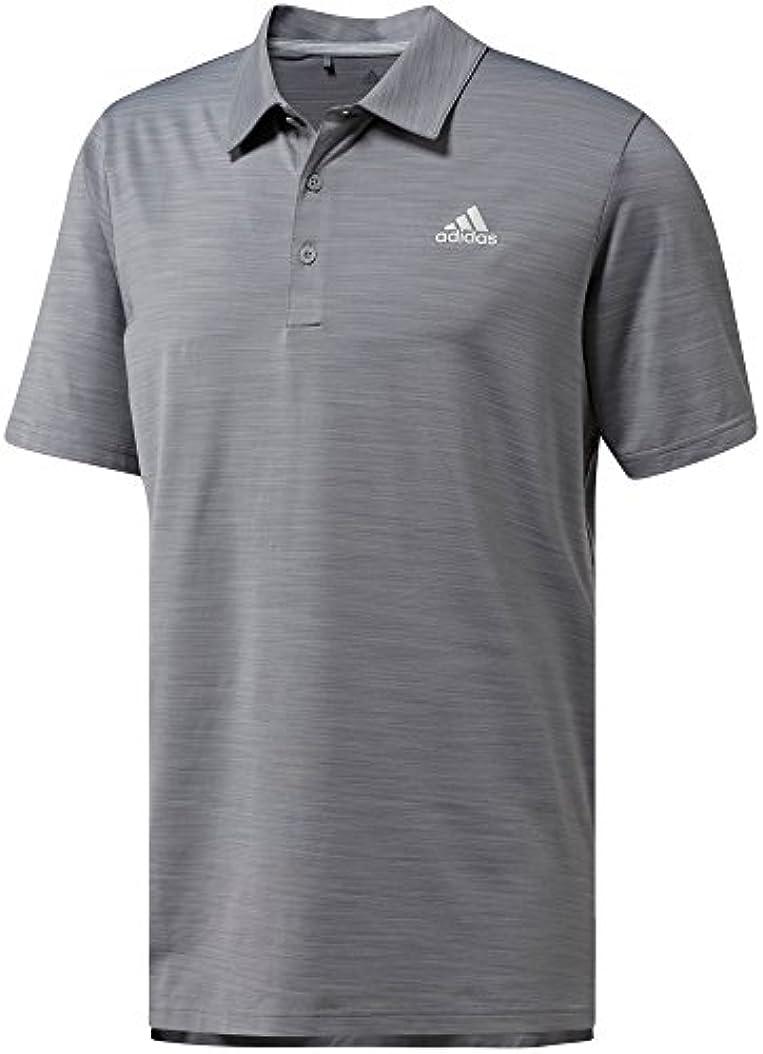 気をつけて増幅器すでにアディダス トップス シャツ adidas Men's Ultimate365 Heather Golf Po GreyThreeH [並行輸入品]