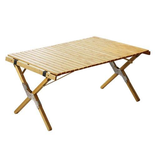 ウッド ロールトップテーブル (シルバー/Sサイズ )