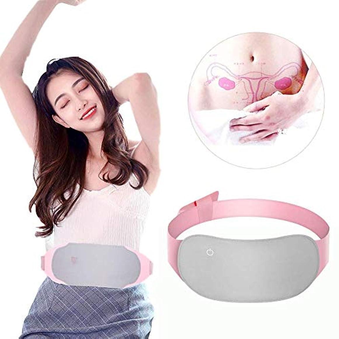 ズボンドックアルバムポータブル電気加熱パッド、腰痛緩和のためのUSBケーブル付き遠赤外線加熱ウエストベルト