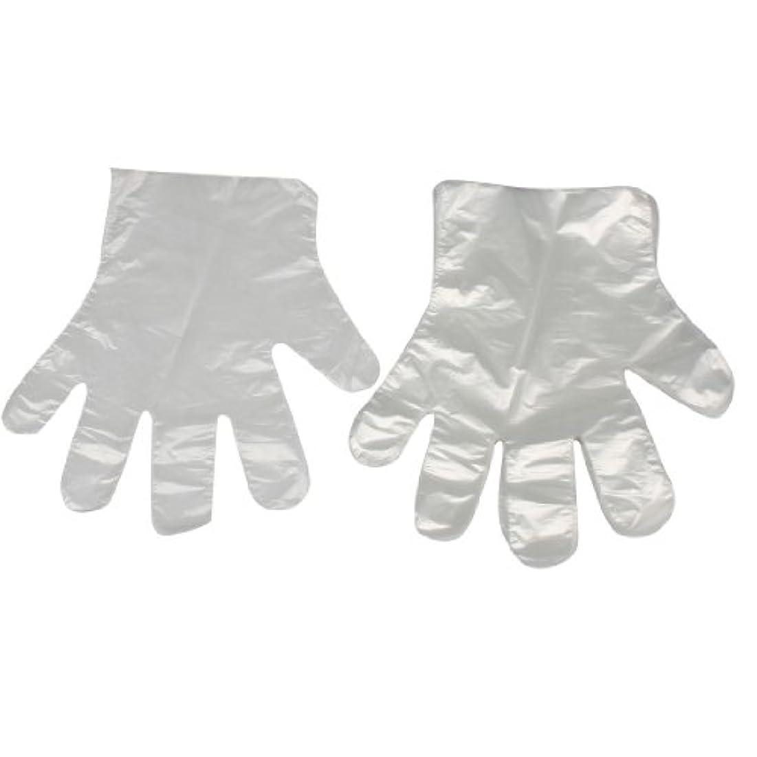 感動するコスト群衆uxcell ホーム用キッチン用品 薄い柔軟な 使い捨て手袋 クリア ホワイト100 枚