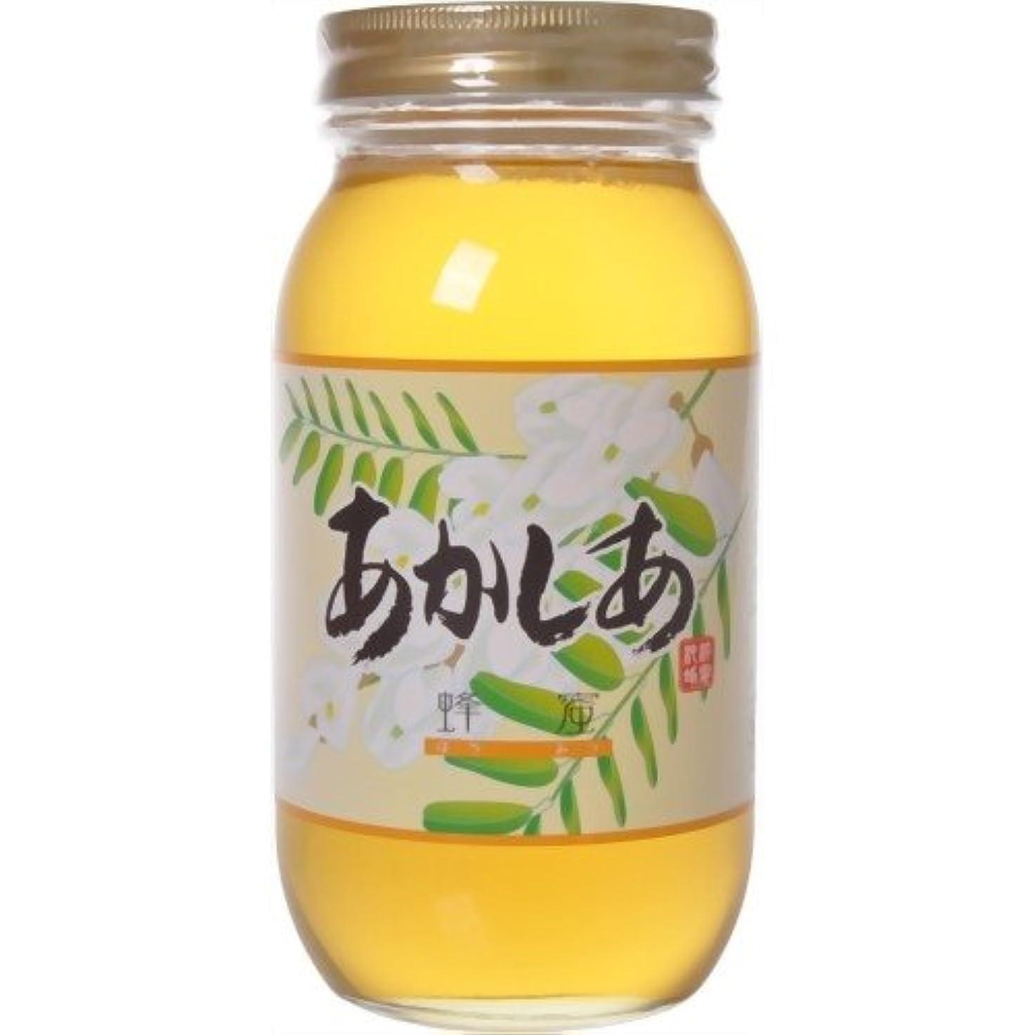 冷凍庫内側透けて見える藤井養蜂場 中国産アカシアはちみつ 1kg