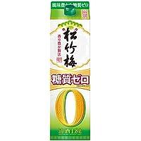 松竹梅 糖質ゼロ 1.8L紙パック [京都府]