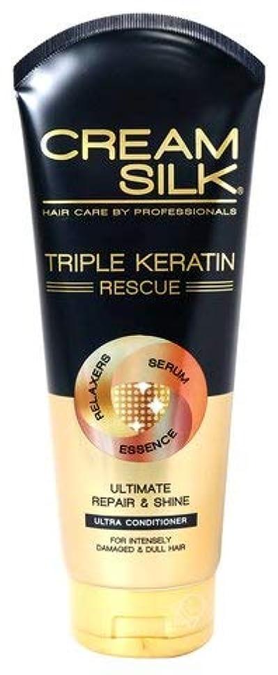 望まない破壊する耳TRIPLE KERATIN RESCUE【ULTIMATE REPAIR & SHINE ULTRA CONDITIONER】170ml クリームシルク コンディショナー フィリピン