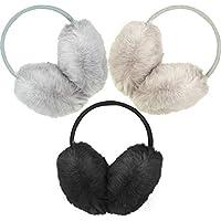 3 Pieces Women Fluffy Ear Warmers Faux Fur Earmuffs Winter Warm Earmuffs