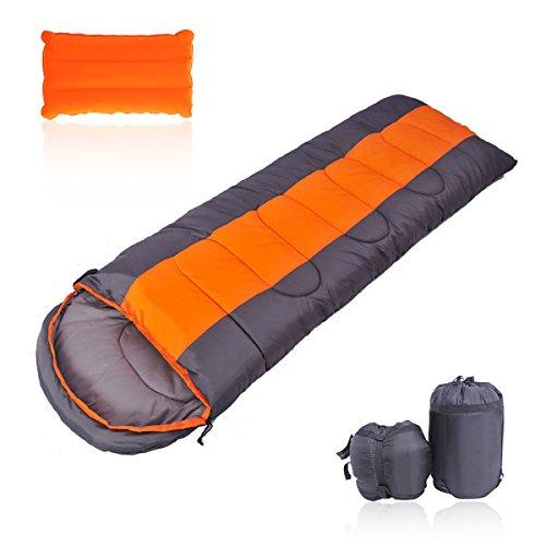 OUTERDO 寝袋 封筒型 シュラフ 軽量 防水保温 コンパクト 丸洗い 1.4kg アウトドア 登山 キャンプ 車中泊 防災 オールシーズン 収納袋付き