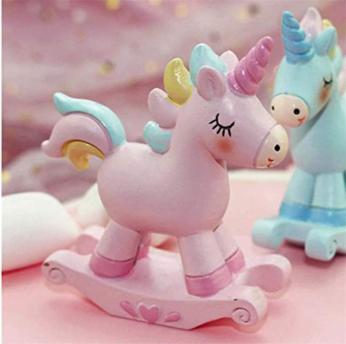 花に水をやる不適切なできないmicia luxury(ミシアラグジュアリー) ケーキトッパー ユニコーン 装飾 マイルストーンバースデー 誕生日 撮影プロップス ピンク