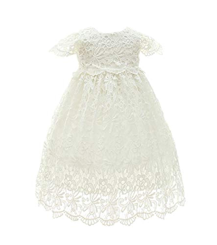 レースのバプテスマ百党パーティープリンセスドレスの少女新生児のドレス