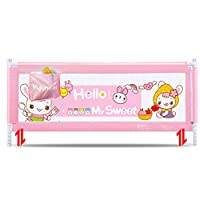ZR- ベッドフェンスフォールプルーフベッドレール\フェ??ンス子供アンチオフ保護フェンス大きなベッドバッフルユニバーサル 150\180\200cm (色 : Pink-180cm)
