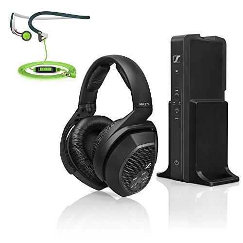 Sennheiser rs175over-earワイヤレスヘッドホン充電システム+インイヤヘッドフォン