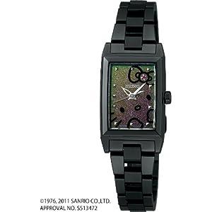 [ルキア]LUKIA 腕時計 ソーラー LUKIA × HELLO KITTY LIMITED EDITION ルビー入り マジカルブラック 【数量限定】 レディース SSVR081 レディース