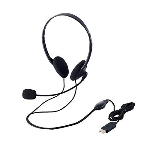 エレコム USBヘッド 両耳小型オーバーヘッドタイプ  HS-HP27UBK