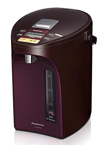 パナソニック 電気ポット 4.0L 真空断熱 省エネ保温 お好み温度調節 給湯量(4段階+コーヒー用) コードレス給湯 ブラウン NC-SU404-T