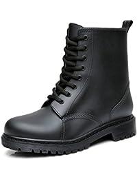 メンズ レインブーツ レディース レインシューズ ショートブーツ 雨靴 完全防水 防滑 紳士靴 男女兼用 サイドゴア レインブーツ スノーブーツ ブラック