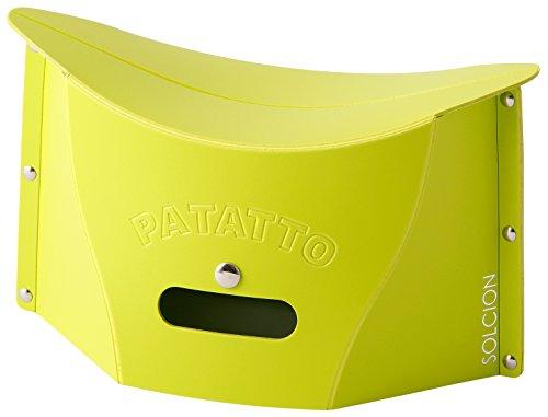 SOLCION 折りたたみ椅子 PATATTO mini (パタット ミニ) 高さ15cm グリーン PM002
