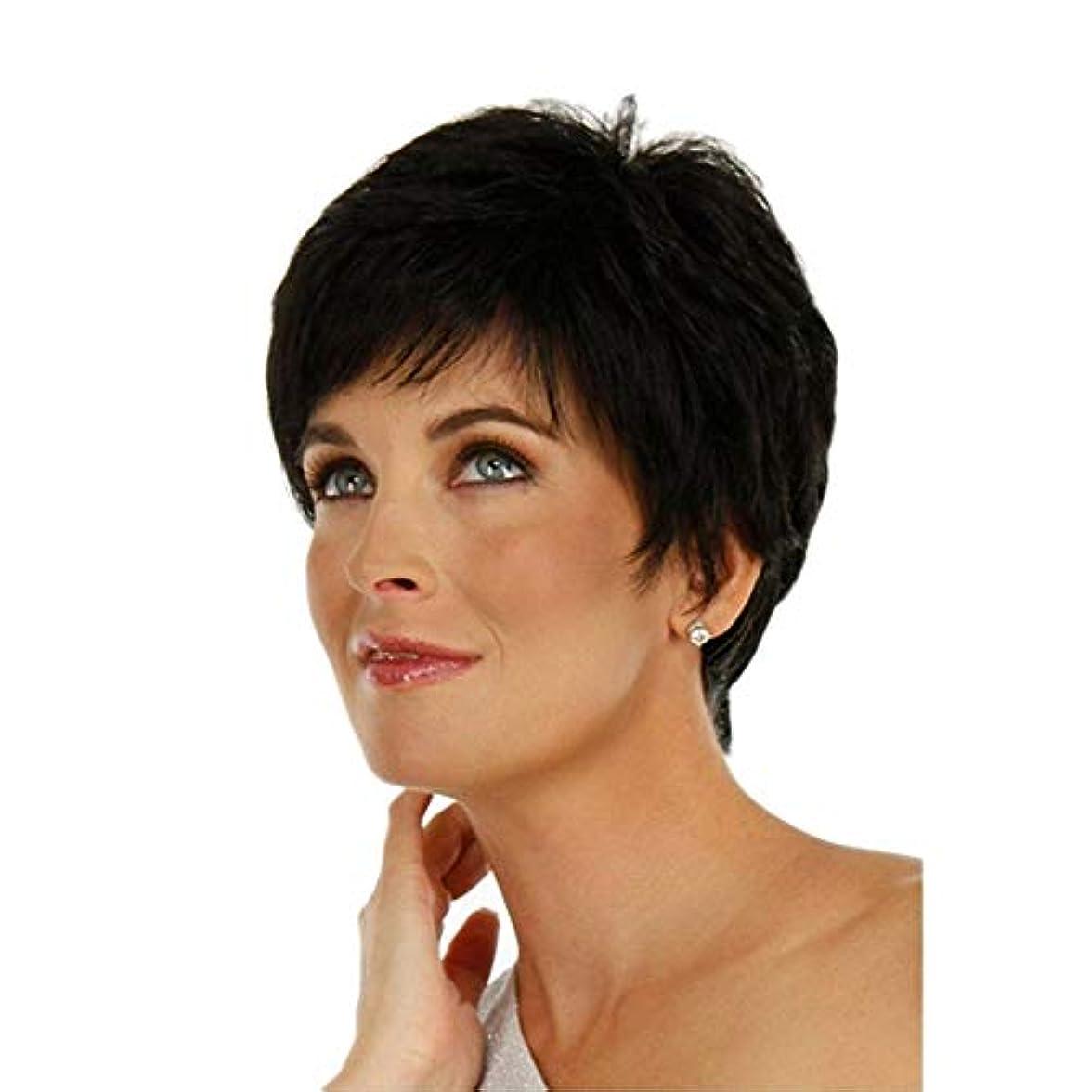 マイク法医学オゾンWASAIO ショートボブウィッグウィメンズブラックショートストレートヘア (色 : 黒)