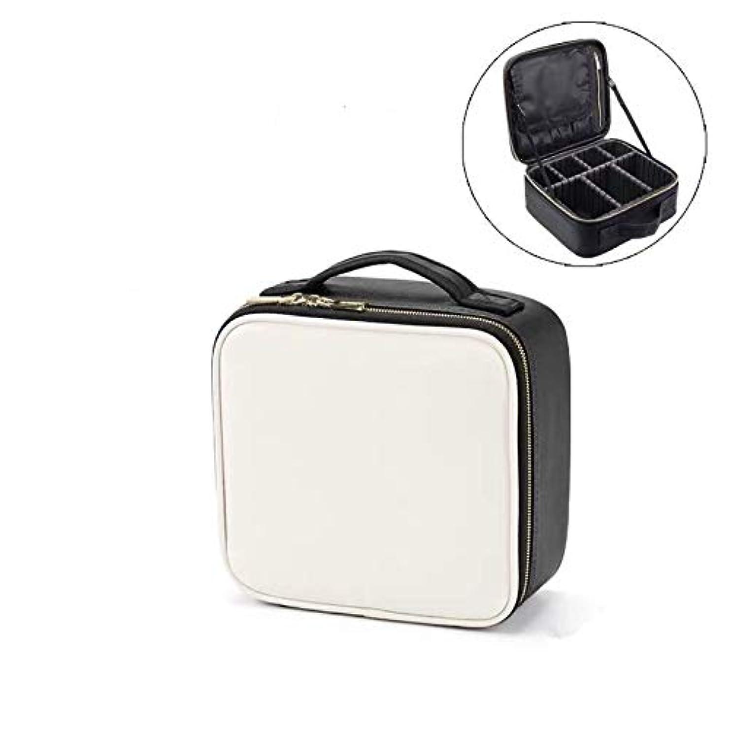 組立メドレー保証するメイクボックス プロ用 大容量 仕切り板調節可能 防水設計 コスメボックス 化粧ポーチ 化粧品収納 高級感 旅行外出 携帯用