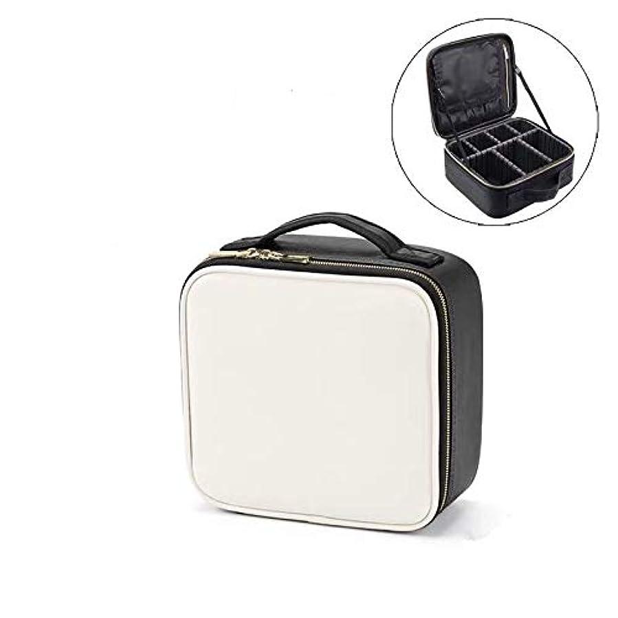 人形常習的アンケートメイクボックス プロ用 大容量 仕切り板調節可能 防水設計 コスメボックス 化粧ポーチ 化粧品収納 高級感 旅行外出 携帯用