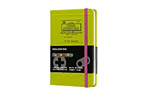 Moleskine Ltd. Edition Notebook, Super Mario, Game Boy / Green, Pocket, Ruled Hard Cover (3.5 x 5.5)