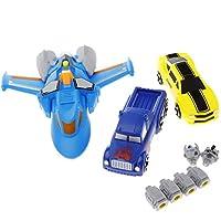 SM SunniMix 宇宙船 トラック 車おもちゃ 変換ロボット 玩具 プラスチック 子供 実践 能力 想像力 知育玩具