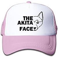 秋田犬の顔 素敵 かわいい おもしろい ファッション 派手 メッシュキャップ 子ども ハット 耐久性 帽子 通学 スポーツ