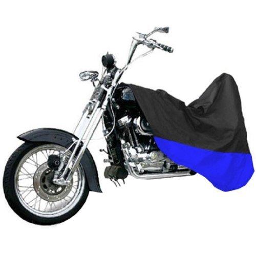 ブラック/ブルーオートバイのカバービューエルxb9s xb12s Lightning M