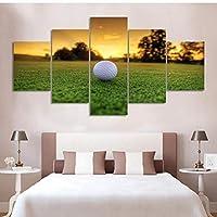 絵画モジュラー画像5ピースモルディブボール現代装飾キャンバス風景アートフレームワーク壁用リビングルームキャンバス絵画
