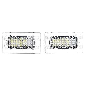 SODIAL カーホワイト12 LED室内灯ドアライトテールライト テスラモデル3 S X用