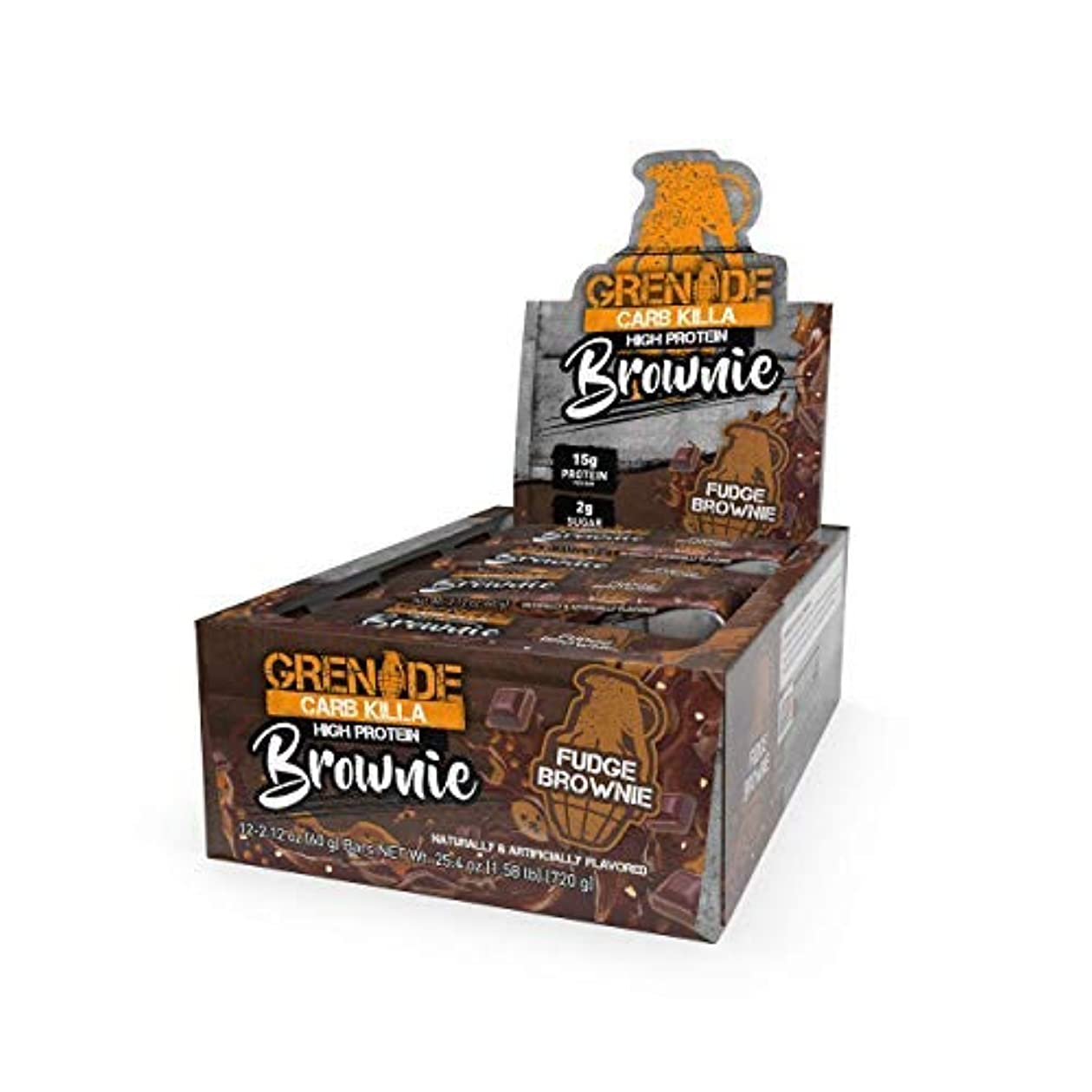スラムデュアルラベルGrenade Carb Killa Brownie High Protein Suitable Meal Replacement for Weight Loss 60 Grams Pack of 12 [並行輸入品]