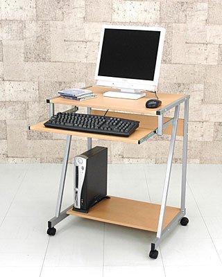 スライドテーブル付きPCデスク ナチュラル CT-2626NA アウトレット