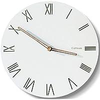 IKENOKOI 北欧風 壁掛け時計 おしゃれ インテリア 電子クロック 音無し 直径29cm(ローマ数字)