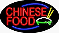 17x 30x 3インチChinese Food点滅on / offネオン広告ウィンドウサイン