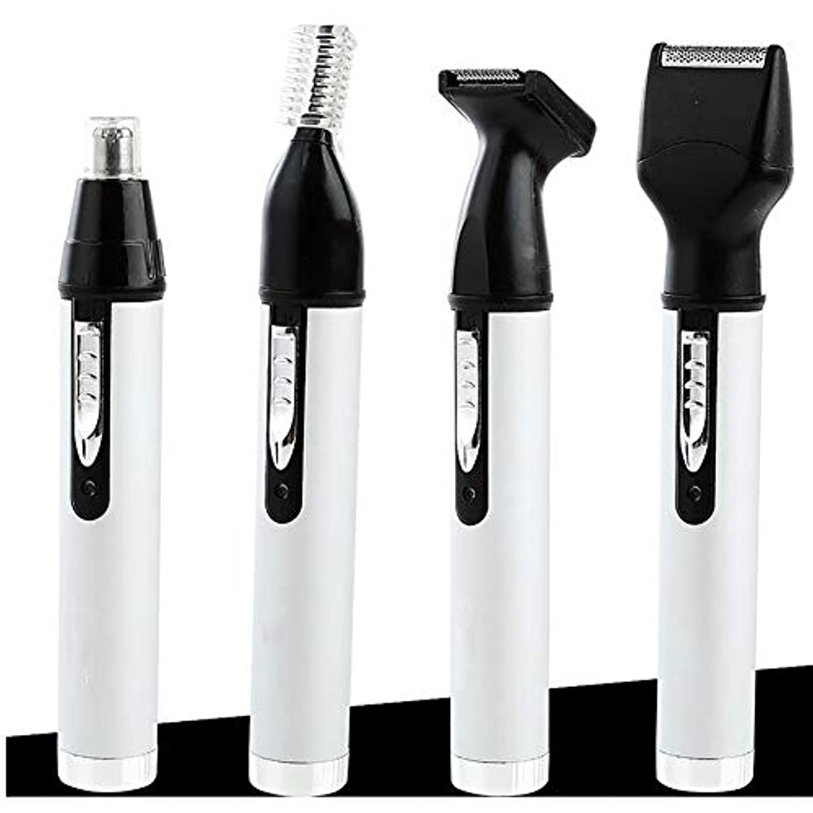 焼く常習者会社男性用女性用鼻毛トリマー、4つのうち1つの再充電可能なプロフェッショナル電動眉毛と顔用ヘアトリマー、湿/乾(白)