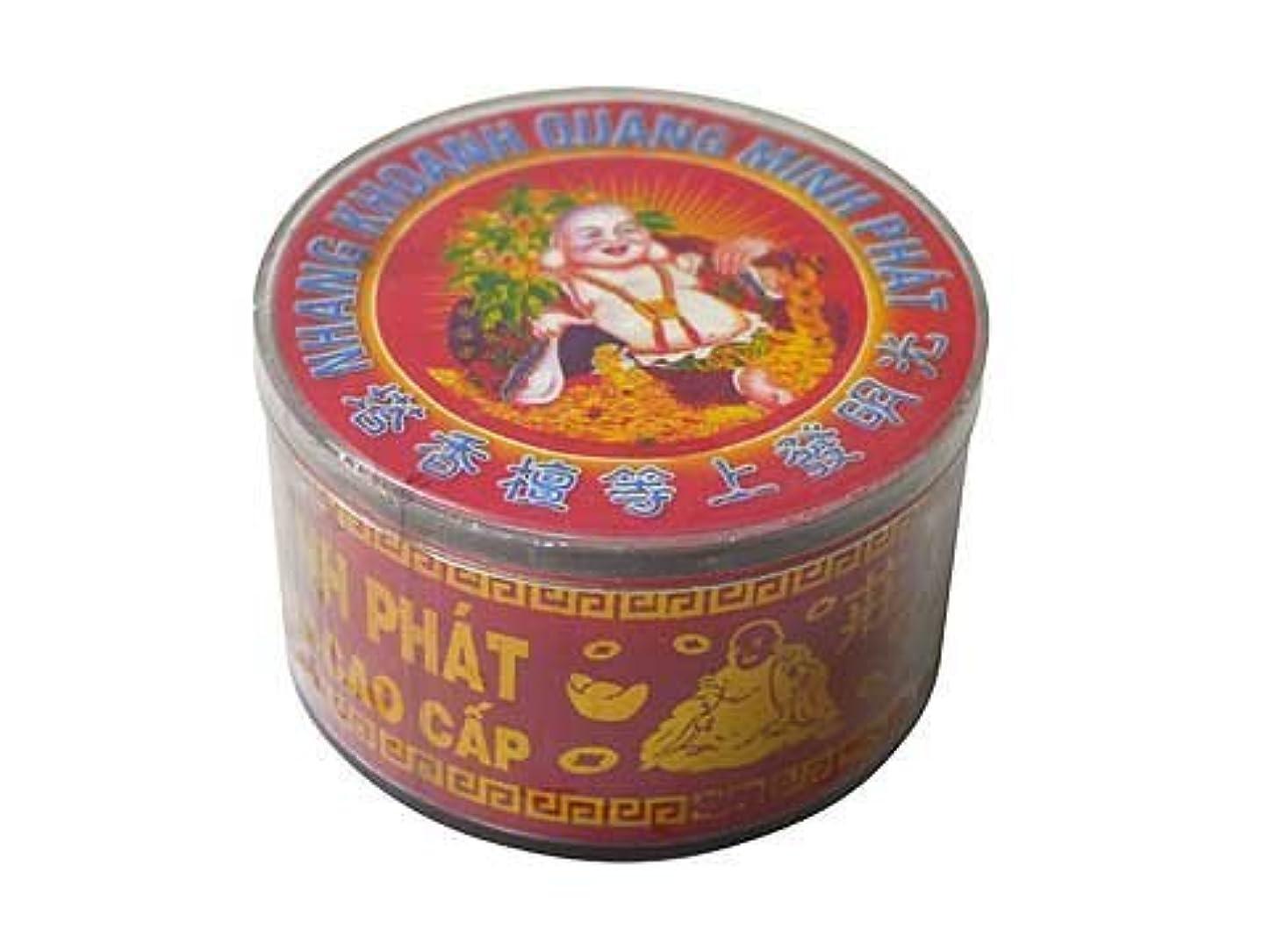 宿題をする木製スクラップVietnam Incense ベトナムのお香【大福様ラベル渦巻き檀香】