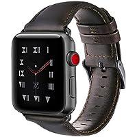 BRG コンパチブル apple watch バンド,レトロ革 ビジネススタイル アップルウォッチバンド アップルウォッチ4 apple watch series4/3/2/1 光沢感(42mm/44mm,レトロブラウン)