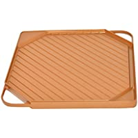 Copper Griddle and Grill Pan - by Home-X [並行輸入品]