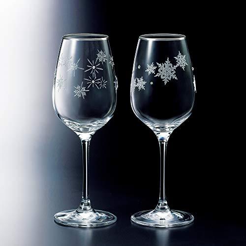 NARUMI(ナルミ) ペア ワイングラス グラスワークス スノー&スター 340cc 2客セット GW4065-63393A