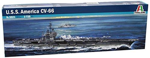 タミヤ イタレリ 1/720 艦船シリーズ 521 アメリカ海軍 航空母艦 U.S.S アメリカ 39521