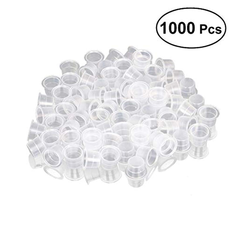 ROSENICE タトゥーインクキャップ 使い捨て顔料インクカップ 1000個 8ミリメートルサイズ
