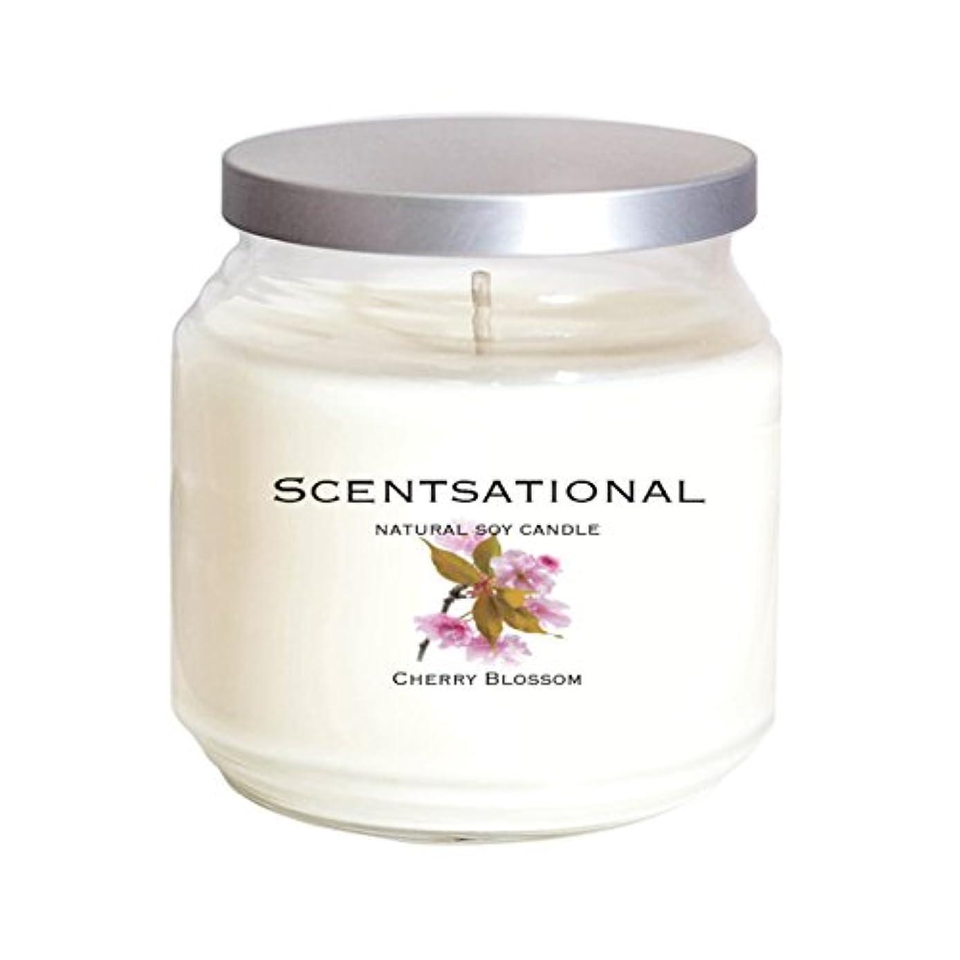 ぴかぴか欠如発音Scentsational Soaps &キャンドル自然Soy Candle Cherry Blossom
